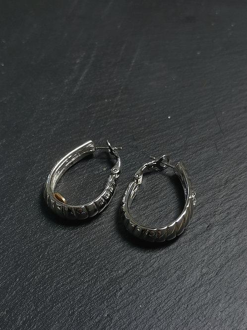 Chevrons hoop earrings