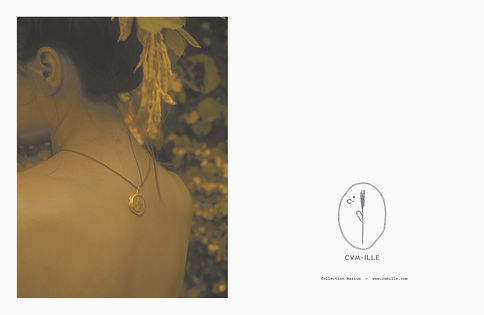 CVM ILLE jewellery in Kirsten Magazine Cover jewels handmade in Paris medal from 24k gold and recycled brass genderless vegan fashion