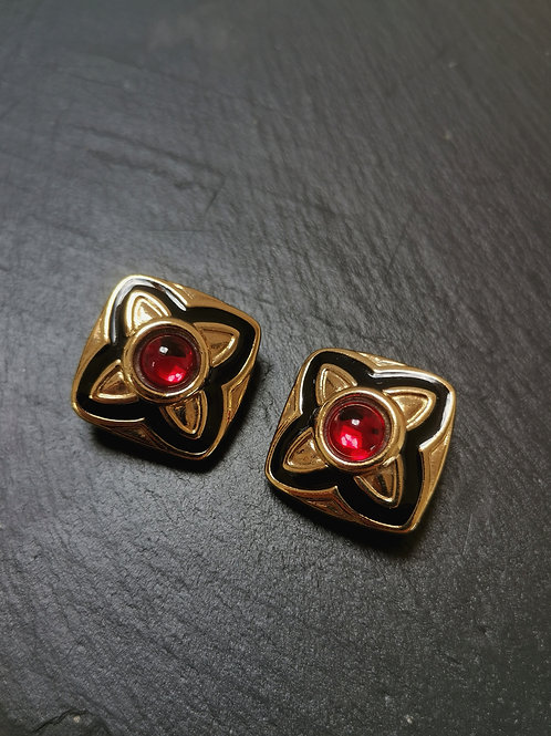 Couture clip earrings