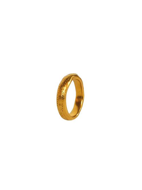 ANNEAV II - engraved stars band ring