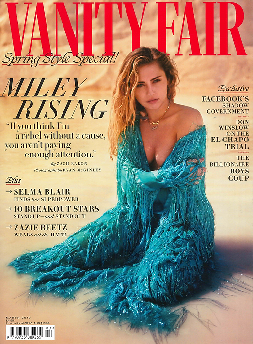 CVM ILLE jewellery in Vanity Fair UK Magazine Cover Art of Gold jewels handmade in Paris cuff from 24k gold and recycled brass genderless vegan sustainable fashion