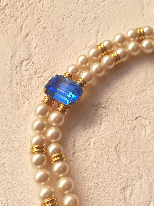Blue pearls bracelet