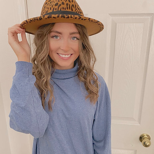 Cheetah Wide Brim Hat