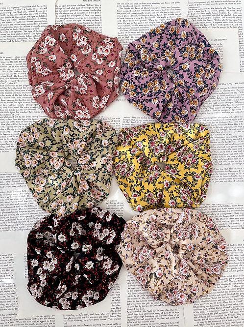 Field of Flowers Oversized Scrunchies