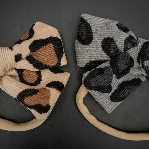 Leopard Baby Bows