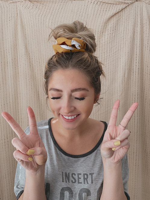 Pop It, Sloth It Oversized Scrunchie