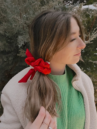 Home Alone Bow Scrunchie