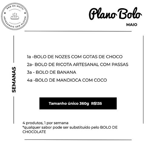 PLANO BOLO - 4 bolos    350g