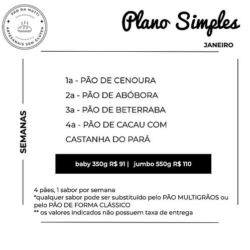 PLANO SIMPLES - 4 pães |  350g e  550g