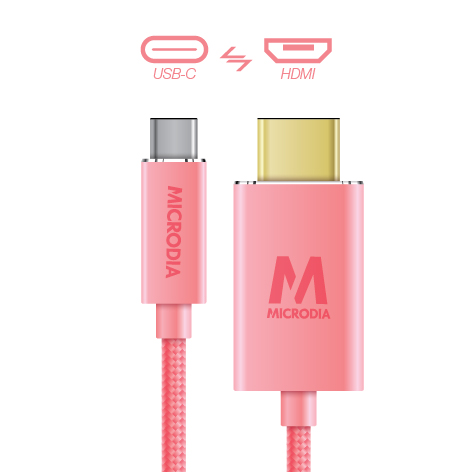 USB-C_to_HDMI - Rose Gold