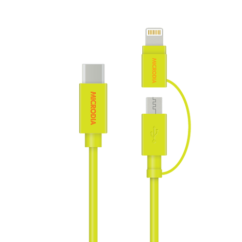 Fruitywire 2-IN-1 (USB-C to Lightning / USB-A Cable)
