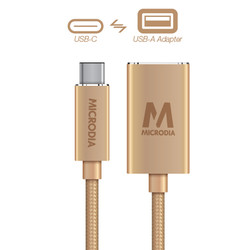 USB-C_to_USB-A Adapter - Gold