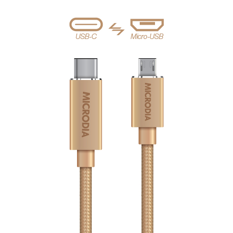 USB-C_to_MicroUSB - Gold
