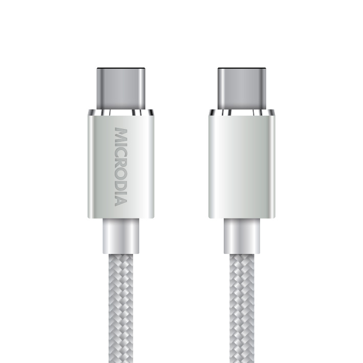 USB-C to USB-C Arctic Silver