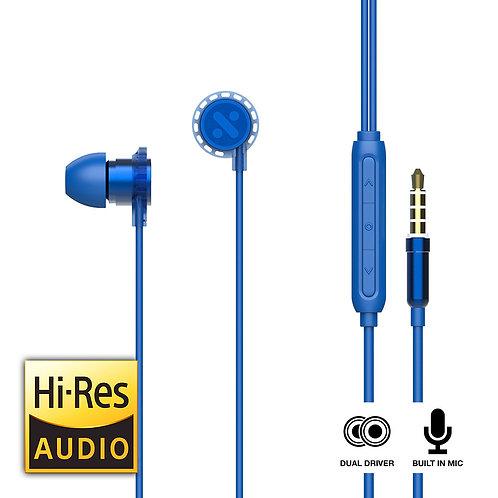 EarXaudio EGO - Hybrid Dual Driver Earphones with Volume Control