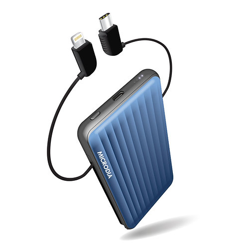 X.POWER TRAVELER - Power Bank with built-in Lightning & USB-C cables