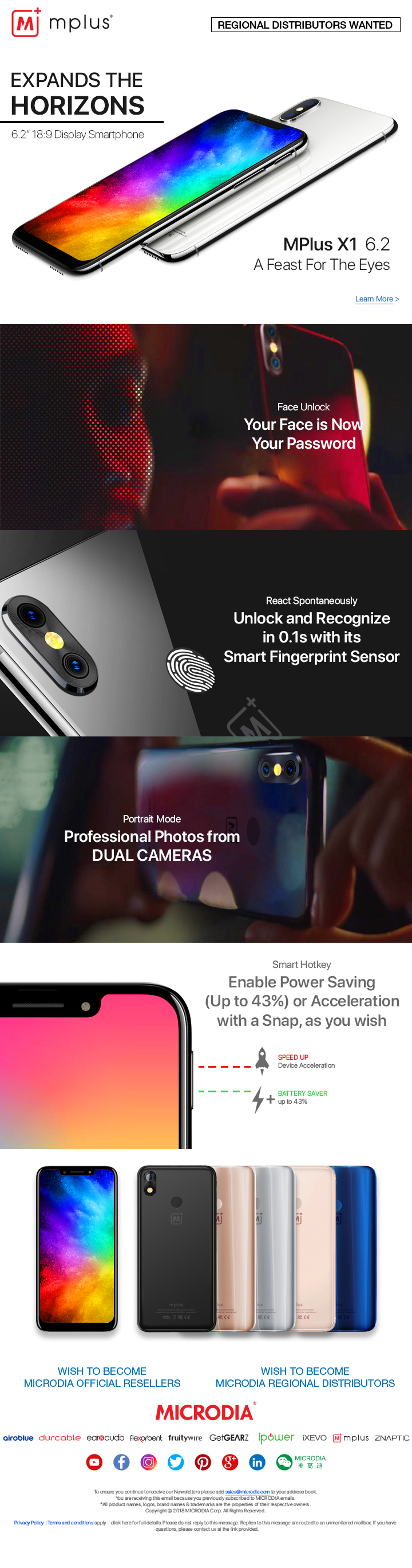 MPlus Launches Full Display Smartpho