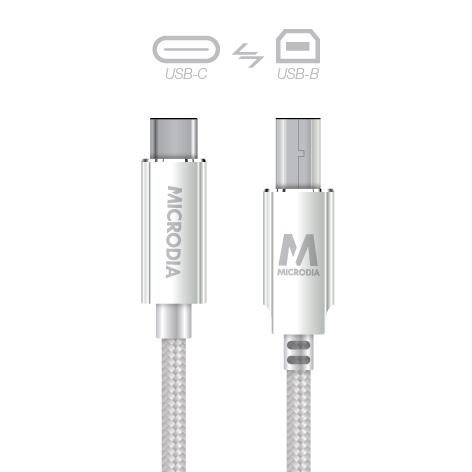 USB-C_to_USB-B - Silver