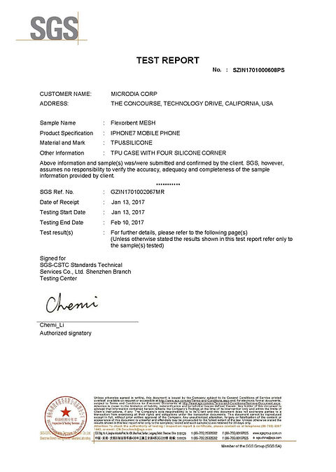 SGS Test Report - 2