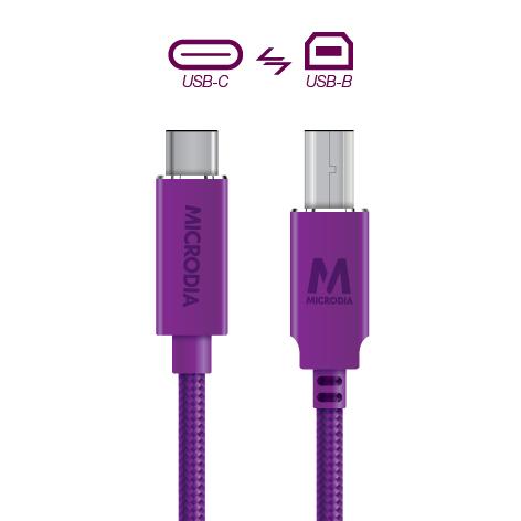USB-C_to_USB-B - Purple