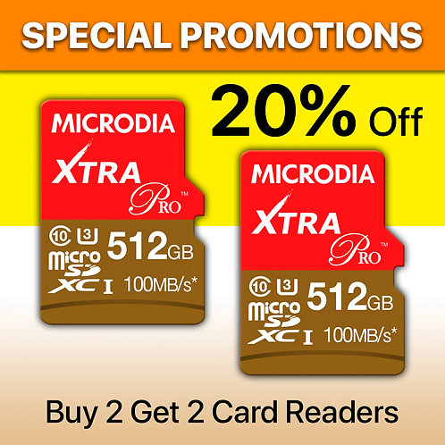 Special Promotion A - XTRA PRO microSD x 2 + Card Readers x 2