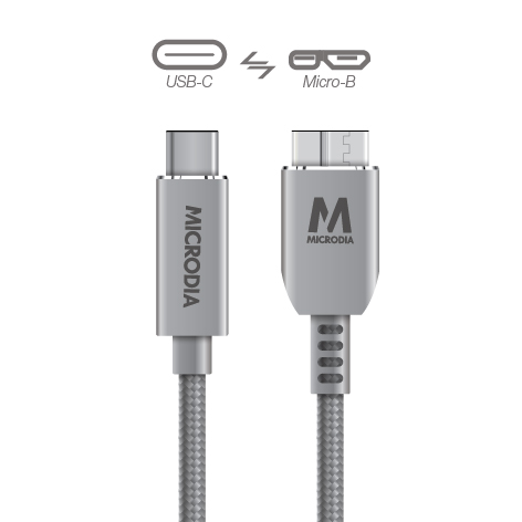 USB-C_to_MicroB - Space Grey
