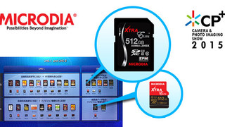 MICRODIA's 512GB SD4.0 Flash Memory Card Debuts for Sale in Feb 2015, at CP+ 2015 Japan