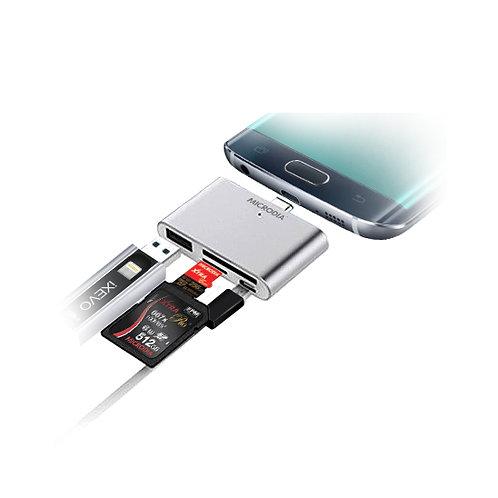 MICRODIA Smart USB-C Multi-Port Card Reader