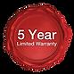 GetGEARZ 5 Year Limited Warranty