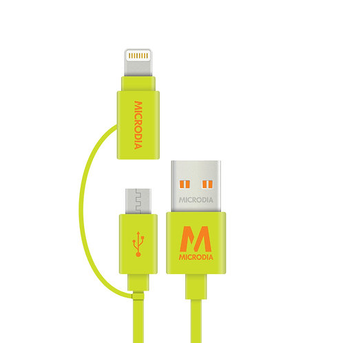 Fruitywire 2-IN-1 - MFi-Certified Tangle-Free Charge & Sync Cable