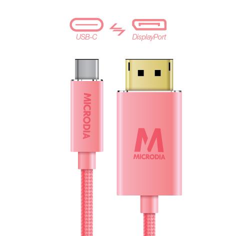 USB-C_to_Displayport - Rose Gold