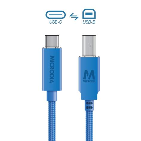 USB-C_to_USB-B - Blue