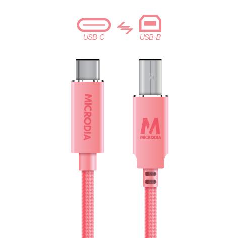 USB-C_to_USB-B - Rose Gold