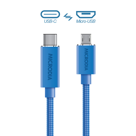 USB-C_to_MicroUSB - Blue