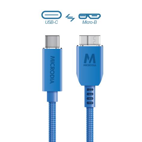 USB-C_to_MicroB - Blue