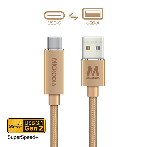 3.1 Gen2 USB-C to USB-A Charge & Sync Cable