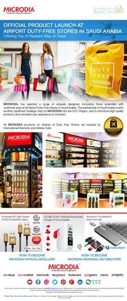 Product Launch at Airport Duty-Free
