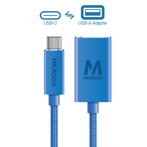 USB-C_to_USB-A Adapter - Blue