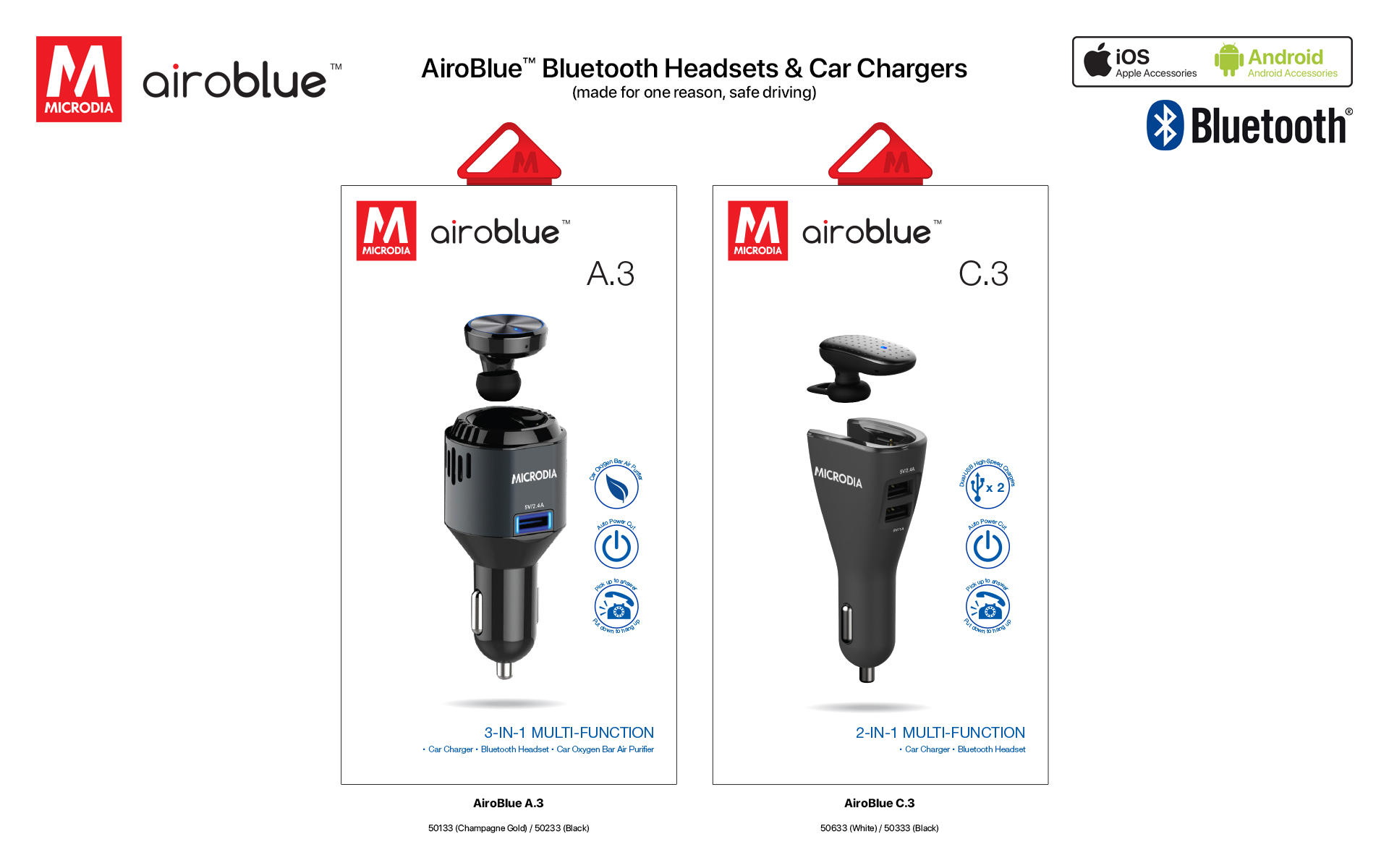 7. Airoblue Bluetooth Headset