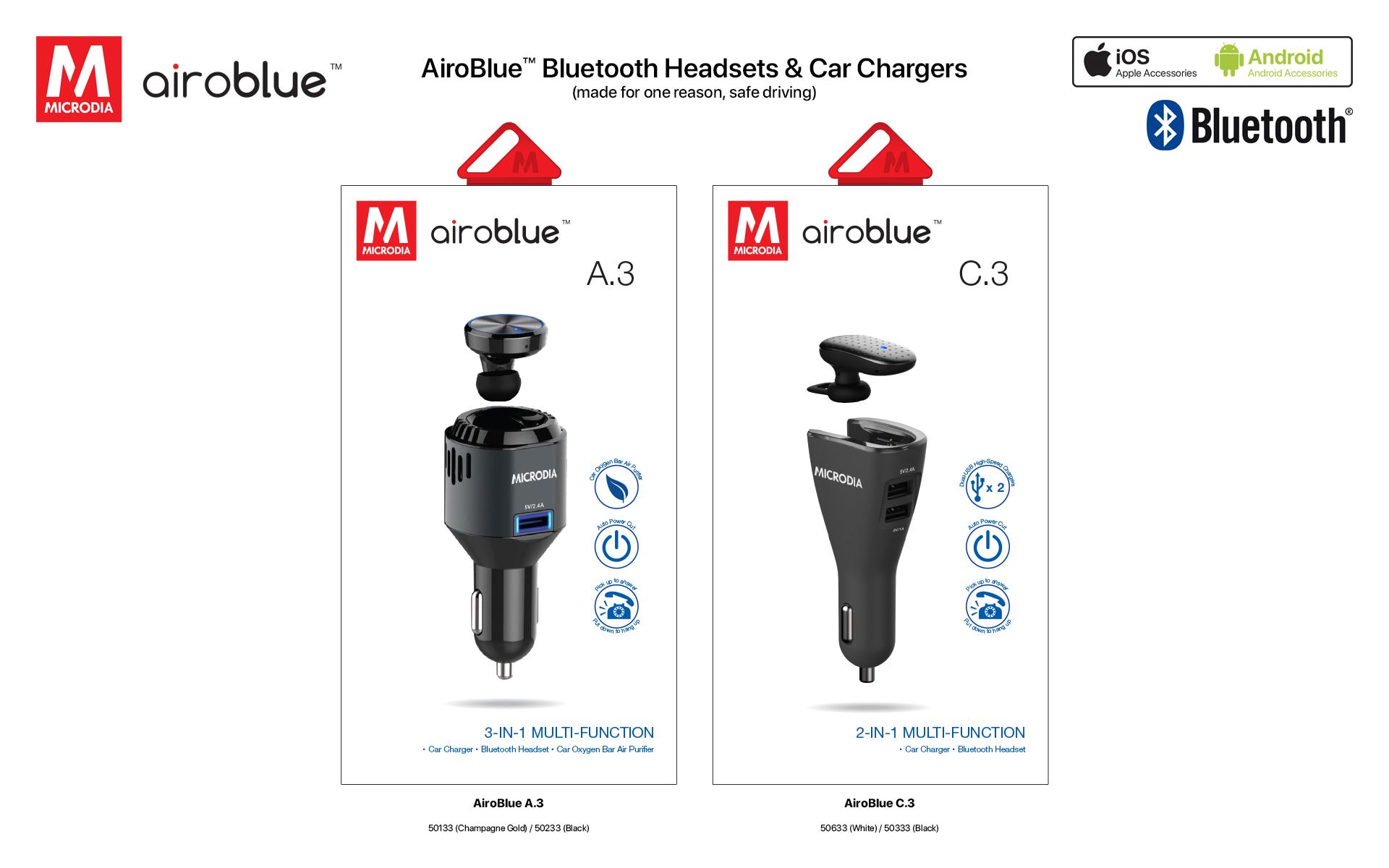 7. Airoblue Bluetooth Headset