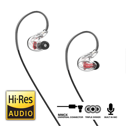 EarXaudio HURACAN - Hybrid Triple Driver Earphones with MMCX Connector