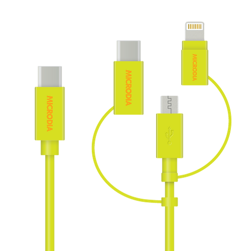 Fruitywire 3-in-1 (USB-C to Lightning / USB-A Cable / USB-C Cable)