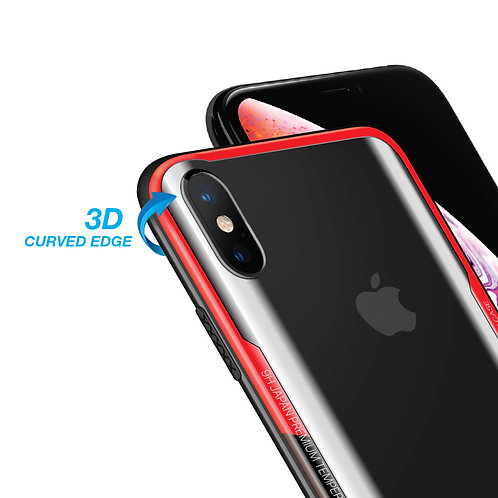 3D-CURVI Shock-Absorbing Protective Case with Curved 9H Hardness Tempered Glass