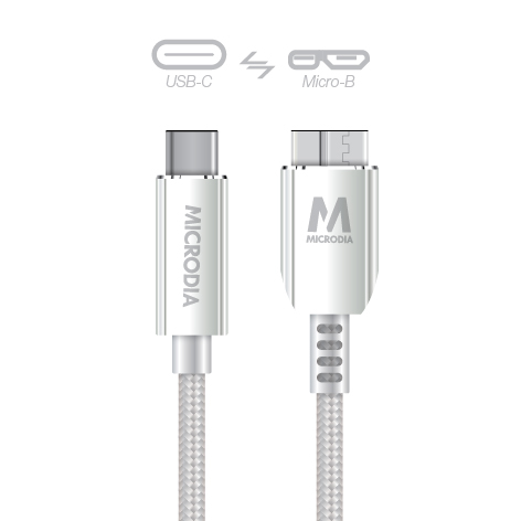 USB-C_to_MicroB - Silver