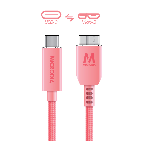 USB-C_to_MicroB - Rose Gold