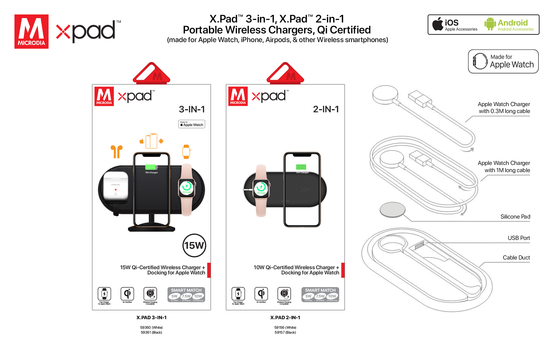 16. X.PAD Apple Watch Charging Pad