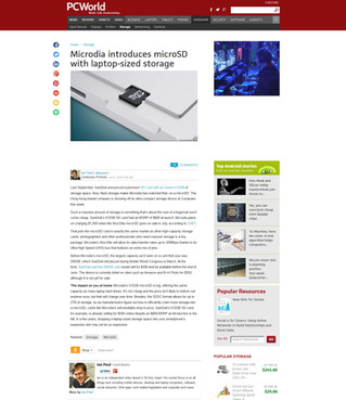MICRODIA introduces microSD with laptop-sized storage