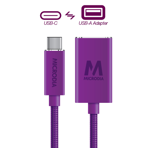 USB-C_to_USB-A Adapter - Purple