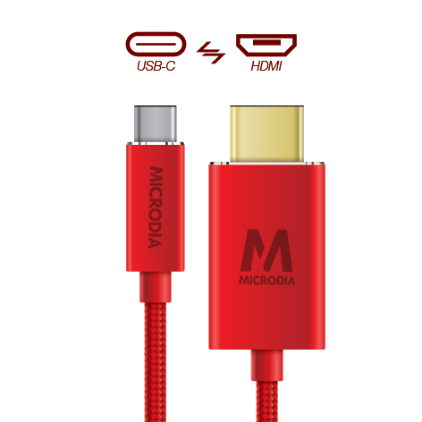 USB-C_to_HDMI - Product Red