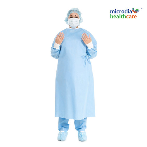 Fluid repellent and Ergonomically designed barrier gown